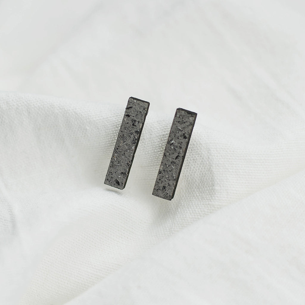 Minimal earrings no.2 | stone. Made in Slovenia.