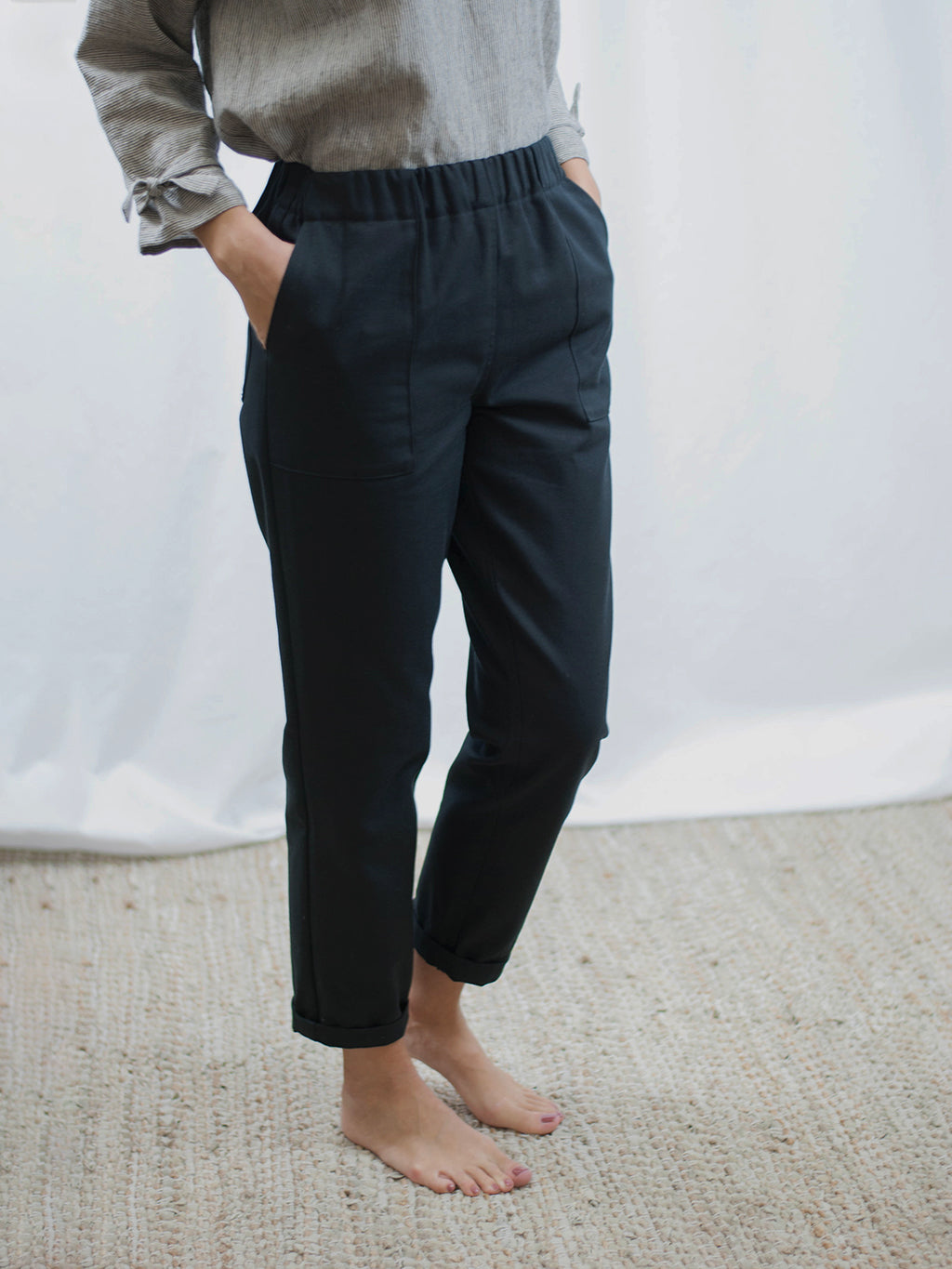 Pant with front pockets | organic cotton