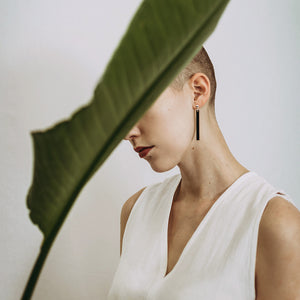 Minimal drop earrings | Swing. Handmade in Slovenia.