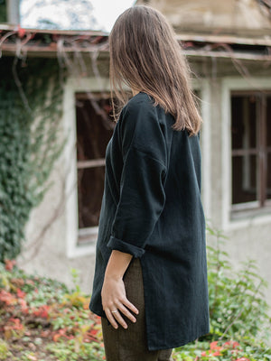 Tunic with pocket | linen/cotton