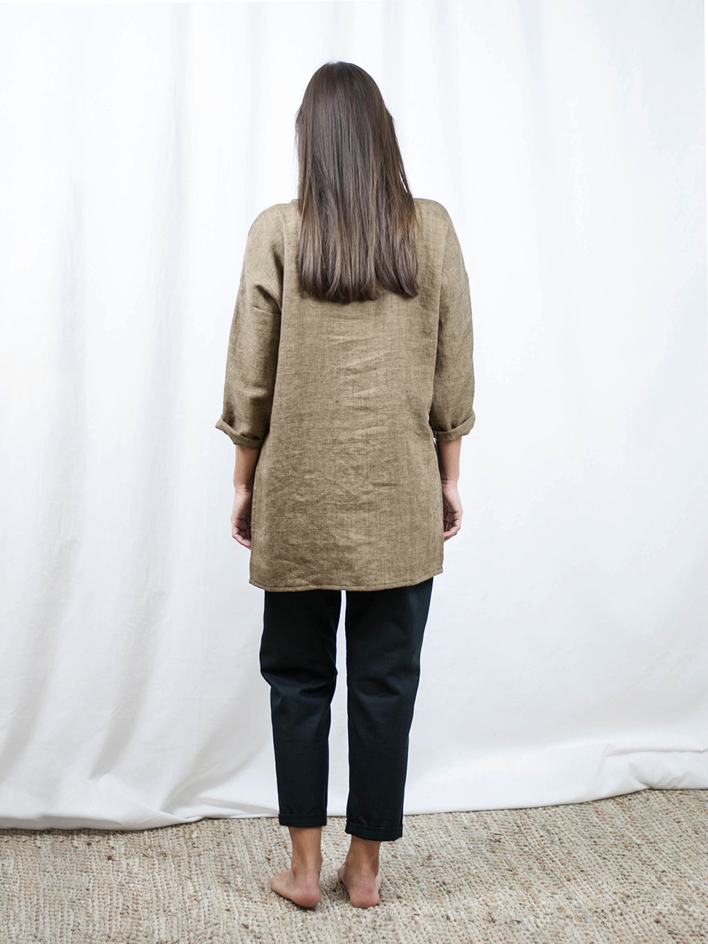 Tunic with pocket | linen/wool. Made in Slovenia.
