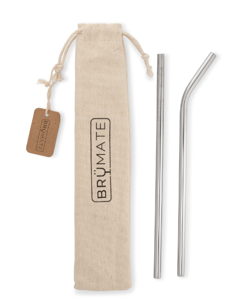 Brumate Stainless Steel Straws - Stainless