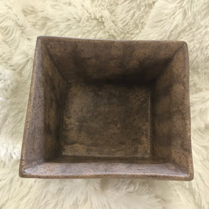 Delta C Pottery Square Striped Bowl