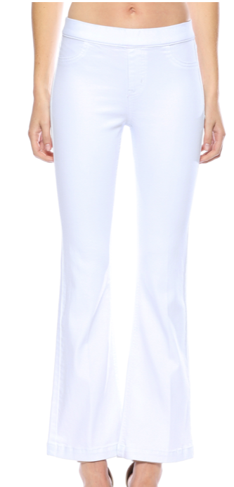 Cello White Regular Flare Jeans