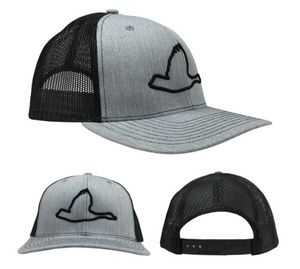 Prep Logo Heather Grey/Black Mesh Cap
