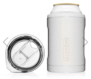 Brumate Hopsulator Duo 2-IN-1 (12OZ) | Glitter White