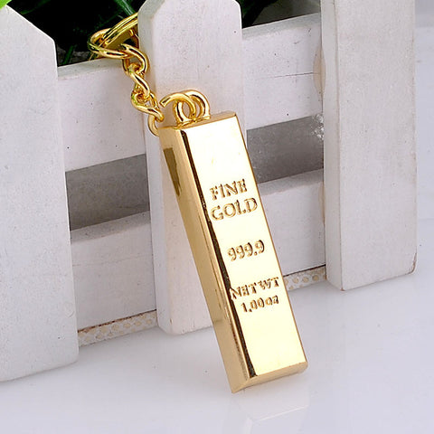 Gold Block Ladies Bag Charm