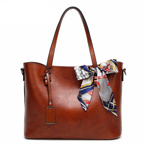 Luxury Women Shoulder Bag With Scarf