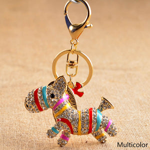 Cute Colorful Zebra Bag Charm
