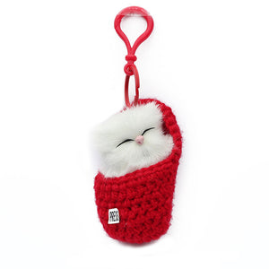 Super Cute Sleeping Kitten Cat Lover Bag Charm