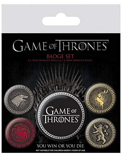 Комплект значки Game of Thrones (Игра на тронове)