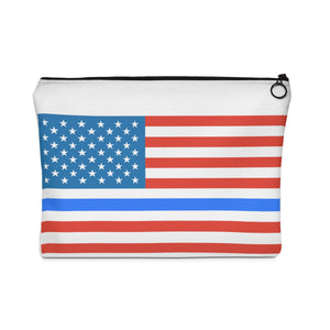 Thin Blue Line Flag Carry All Pouch - Discount Home & Office