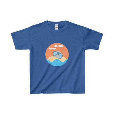 Sandy The Sea Turtle Baby Doing His Thing Kids Heavy Cotton Tee - Discount Home & Office