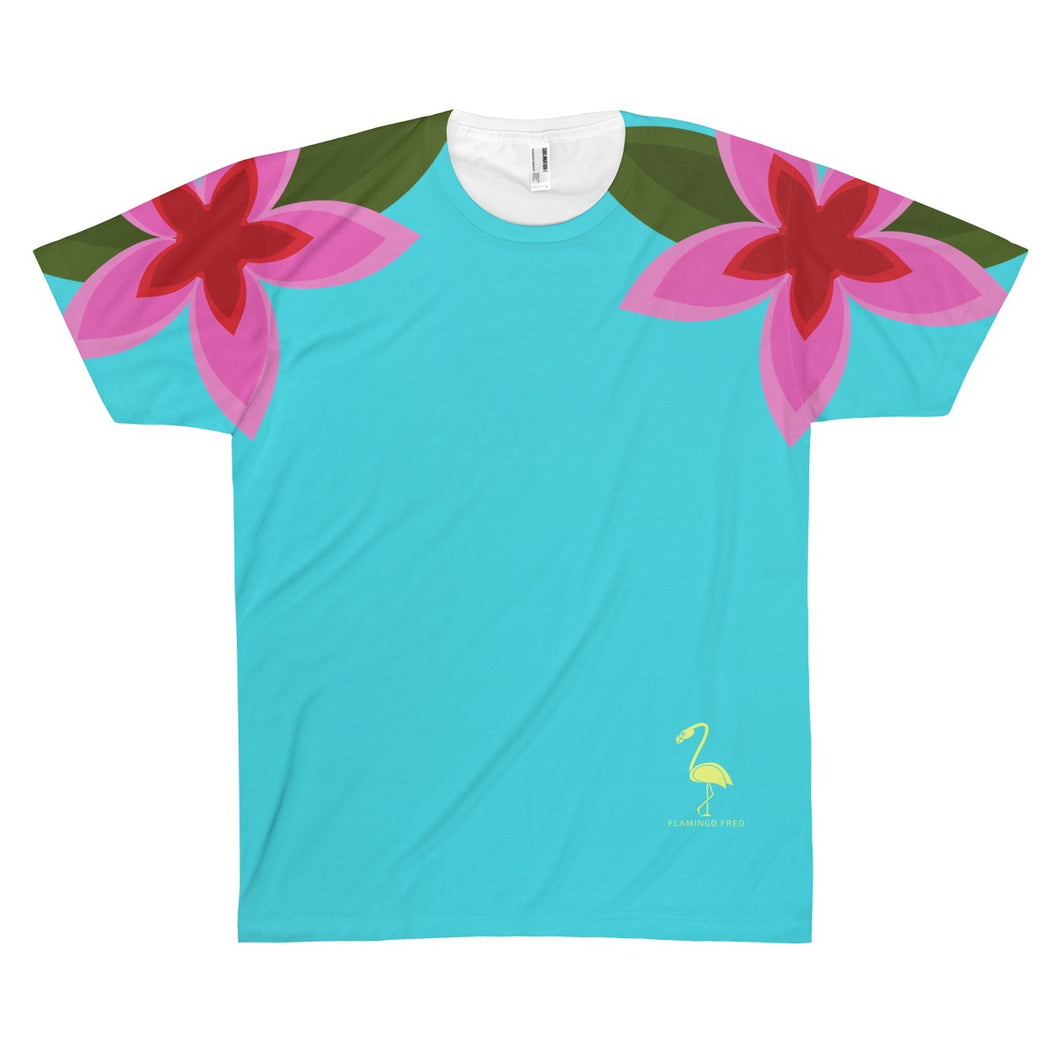 Hibiscus Days Unisex AOP Sublimation Tee - Discount Home & Office
