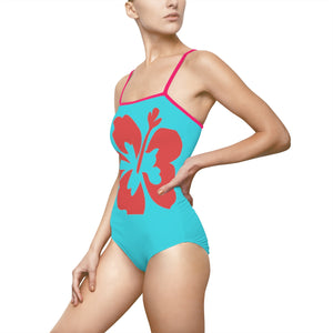 Hibiscus Night's Dream Women's One-piece Hollow-out Back Swimsuit - Discount Home & Office