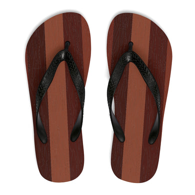 Hardwood Floor Unisex Flip-Flops - Discount Home & Office