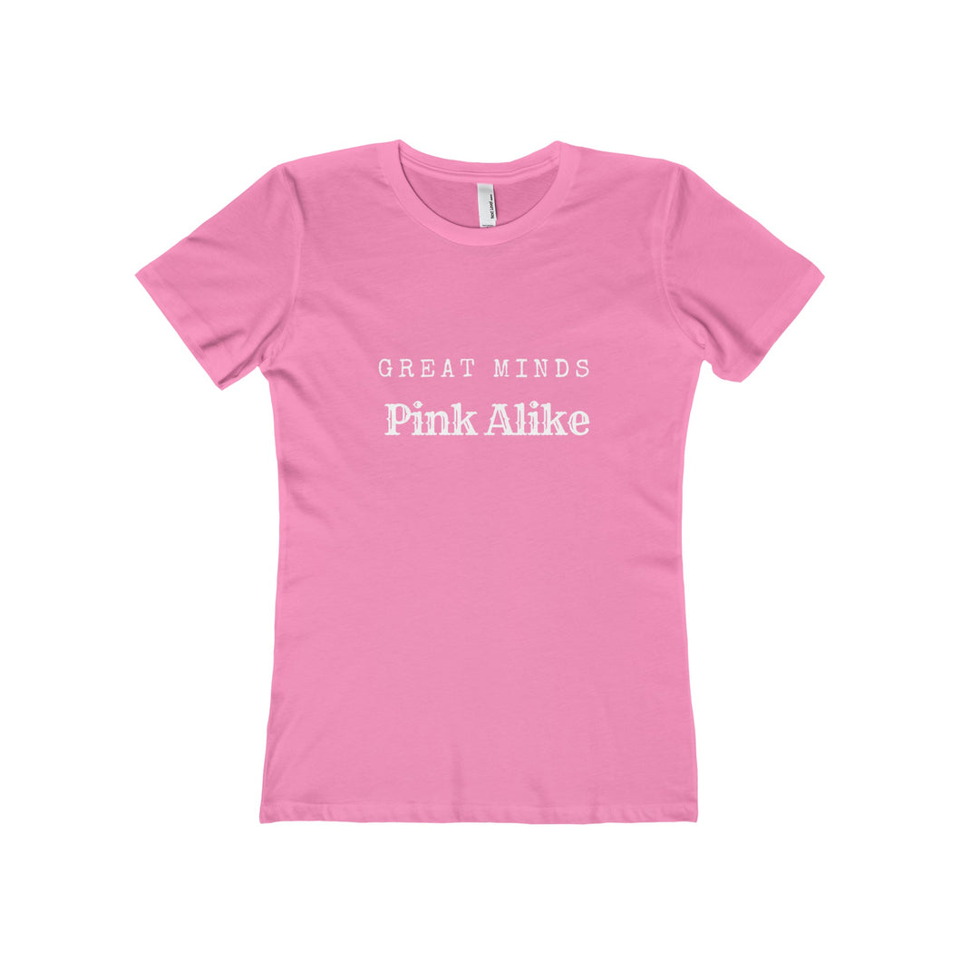 Great Minds Pink Alike Boyfriend Tee - Discount Home & Office