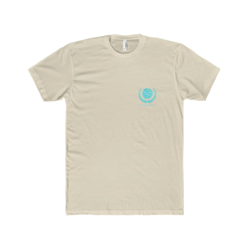 United Nation Emblem Fitted Tee - Discount Home & Office