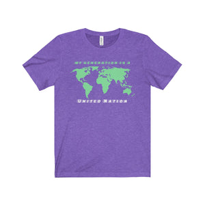 My Generation Is A United Nation World Map Unisex Tee - Discount Home & Office