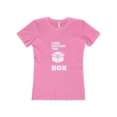 Pink Outside The Box Boyfriend Tee - Discount Home & Office