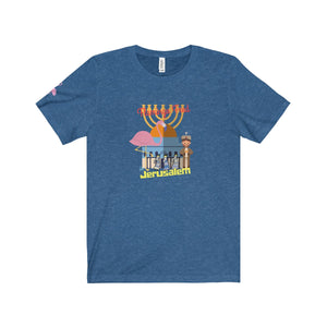 Flamingo Fred in Jerusalem Unisex Jersey Tee - Discount Home & Office