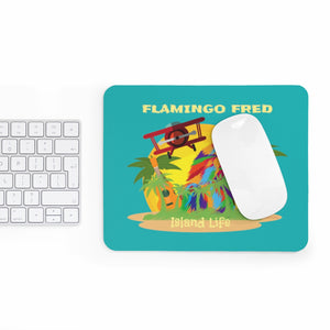 Technicolor Parrot Island Life Mousepad - Discount Home & Office