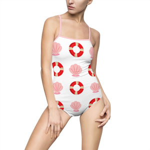 The Sea Shell & The Lifesaver Women's One-piece Hollow-out Back Swimsuit - Discount Home & Office