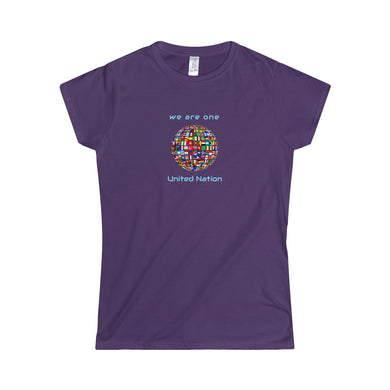 We Are One United Nation No Matter What Flag Women's Softstyle Tee - Discount Home & Office