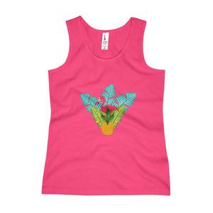Flamingo Tropical Hideaway Girls Tank Top - Discount Home & Office
