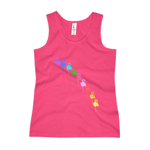 Flamingo Rainbow Girls Tank Top - Discount Home & Office