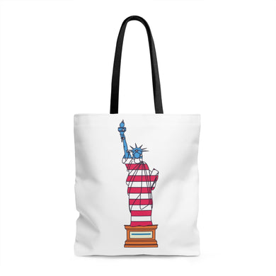 Thin Blue Line Statue of Liberty Tote Bag - Discount Home & Office
