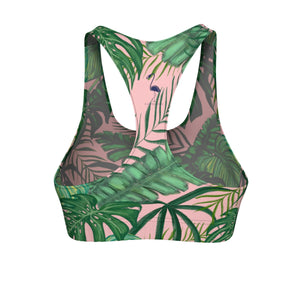 Lush Tropics Women's Cut & Sew Sports Bra - Discount Home & Office