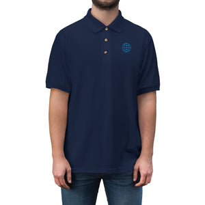 Planet Love Globe Men's Jersey Polo Shirt - Discount Home & Office