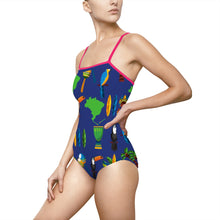 Tropical Paradise Women's One-piece Hollow-out Back Swimsuit - Discount Home & Office