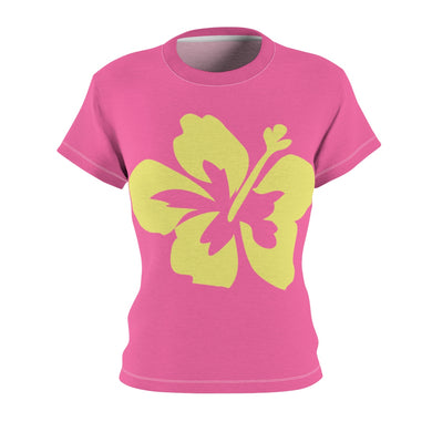 Hibiscus Dreams Women's AOP Cut & Sew Tee - Discount Home & Office