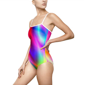 Spirit Of The Rainbow Women's One-piece Hollow-out Back Swimsuit - Discount Home & Office