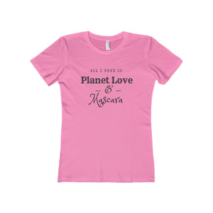 All I Need Is Planet Love & Mascara Boyfriend Tee - Discount Home & Office