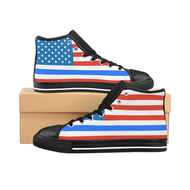 Thin Blue Line Flag Women's High-top Sneakers - Discount Home & Office