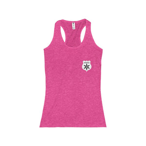 I Love The Police Badge Women's Racerback Tank - Discount Home & Office
