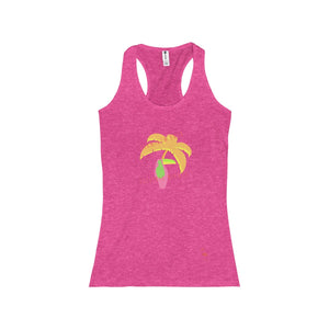 Flamingo Fred Electric Nights Women's Racerback Tank - Discount Home & Office