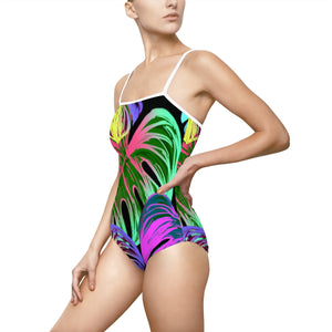 Jungle Boogie Women's One-piece Hollow-out Back Swimsuit - Discount Home & Office