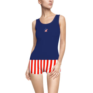 Stars & Stripes Forever Women's Vintage Swimsuit - Discount Home & Office
