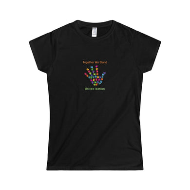 Together We Stand United Nation Women's Softstyle Tee - Discount Home & Office