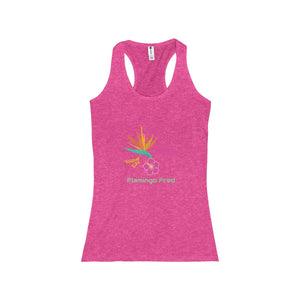 Flamingo Fred Island Life Bird of Paradise Women's Racerback Tank - Discount Home & Office