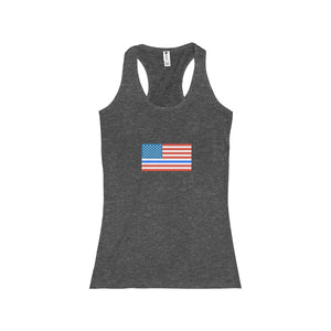 Thin Blue Line and Old Glory Women's Racerback Tank - Discount Home & Office