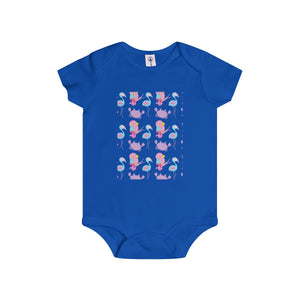 Baby Flamingo Fred & His Island Friends Infant Rip Snap Tee Onesies - Discount Home & Office