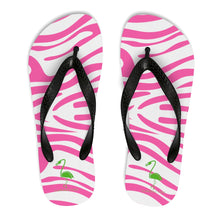 Pink Zebra Stripes Unisex Flip-Flops - Discount Home & Office