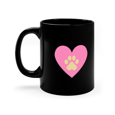I Heart Dogs Black Mug 11oz - Discount Home & Office