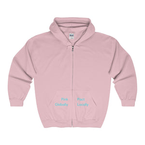 Pink Globally Pact Locally Hooded Sweatshirt - Discount Home & Office