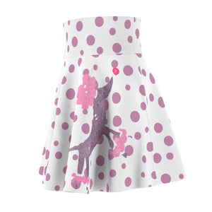 Purple Polka Dot Poodle Skirt Women's Skater Skirt - Discount Home & Office